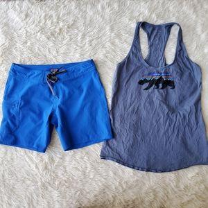Patagonia lot meridian board shorts 6 bear tank SM